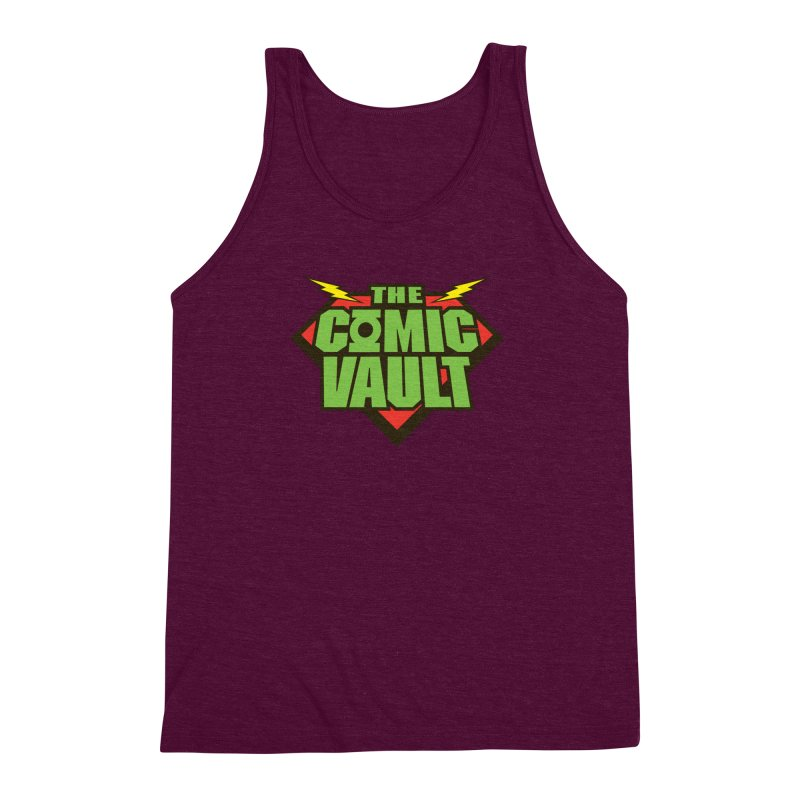 Chicago Comic Vault Old School Logo  Men's Triblend Tank by Monkeys Fighting Robots' Artist Shop