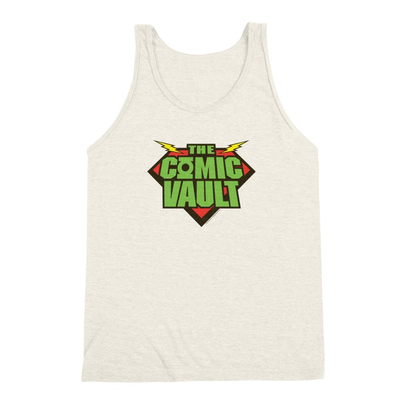 Chicago Comic Vault Old School Logo  Men's Triblend Tank by Monkeys Fighting Robots' Artist Shop