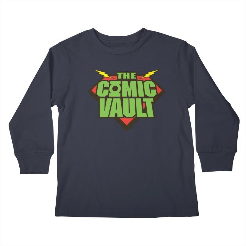 Chicago Comic Vault Old School Logo  Kids Longsleeve T-Shirt by Monkeys Fighting Robots' Artist Shop