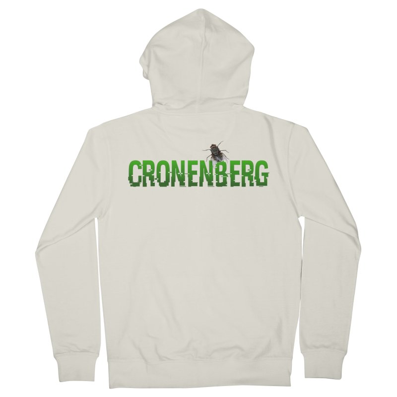 Cronenberg Men's French Terry Zip-Up Hoody by Monkeys Fighting Robots' Artist Shop
