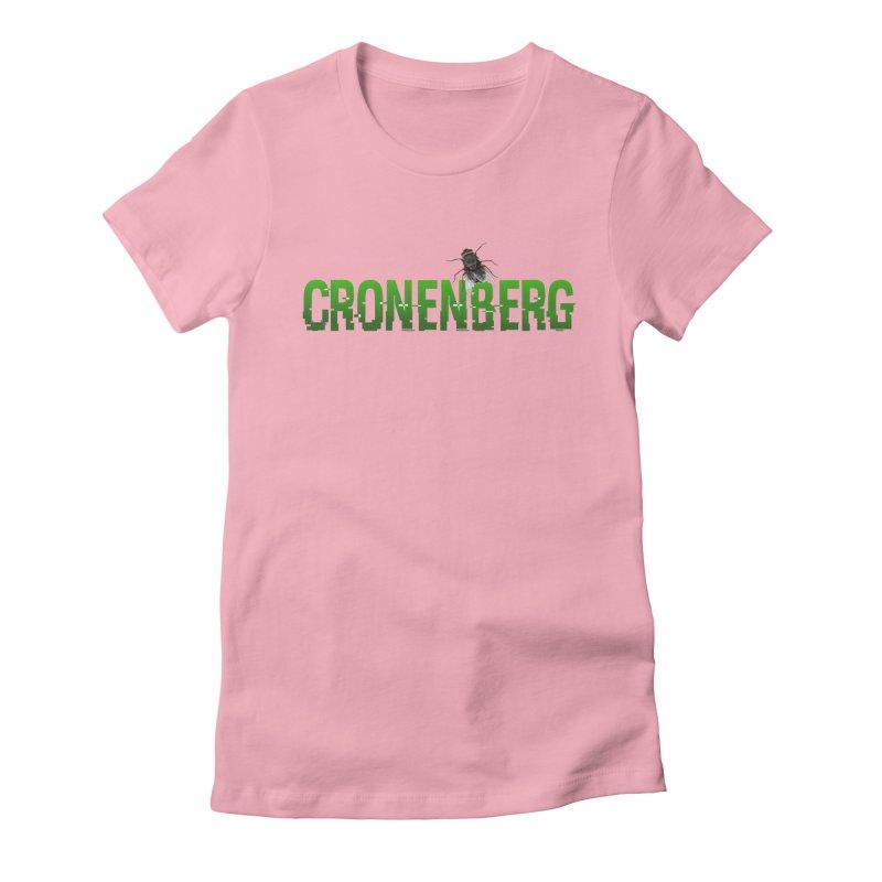 Cronenberg Women's Fitted T-Shirt by Monkeys Fighting Robots' Artist Shop