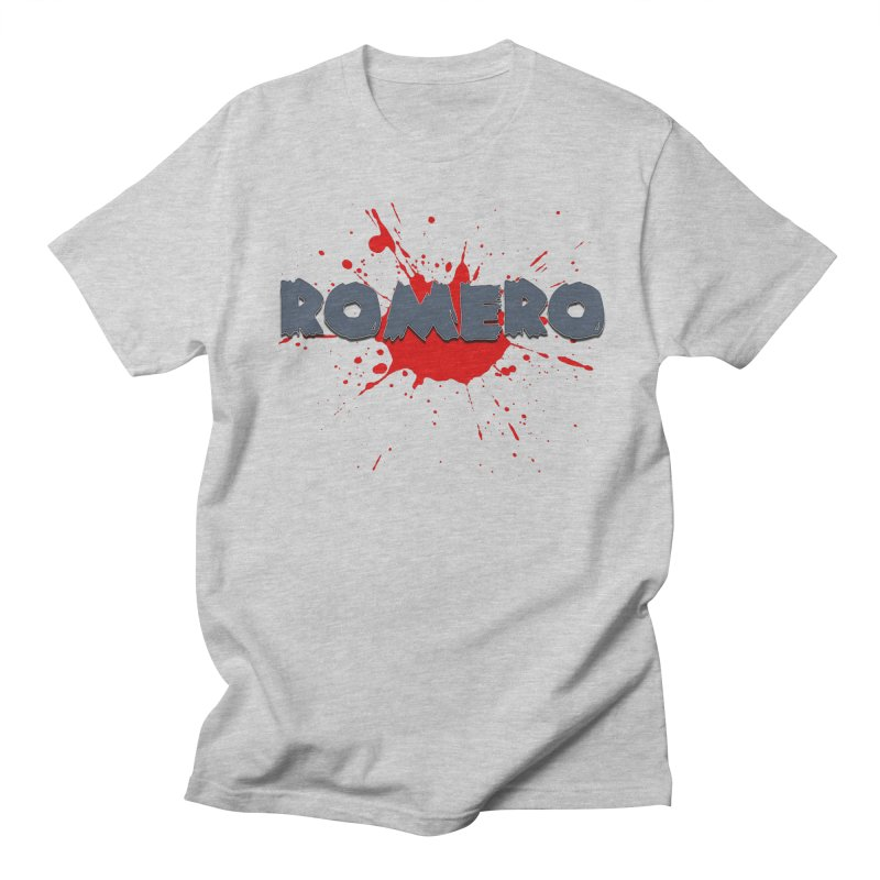 Romero Women's Regular Unisex T-Shirt by Monkeys Fighting Robots' Artist Shop