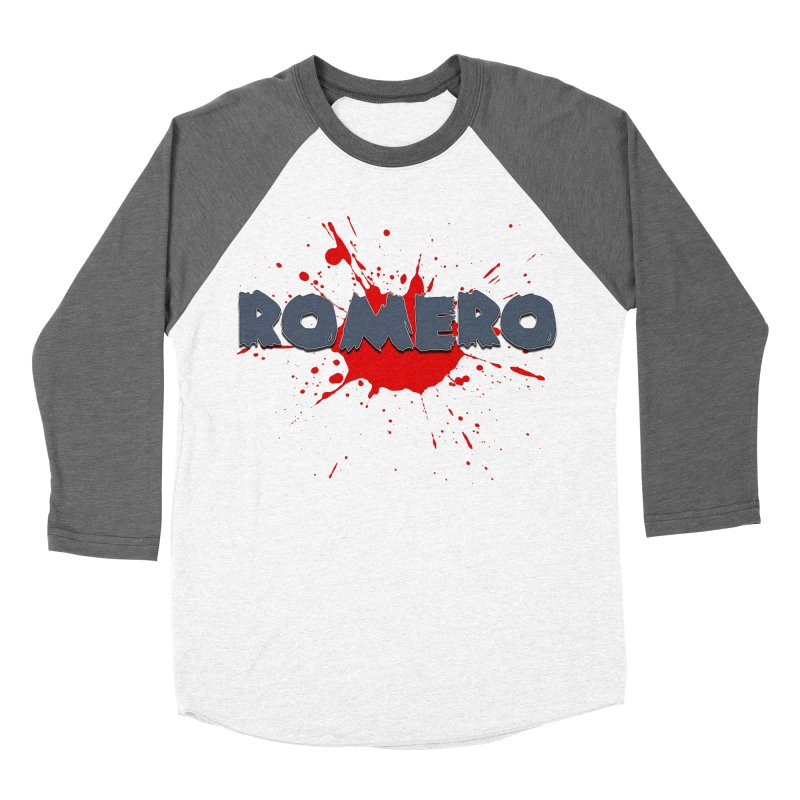 Romero Women's Baseball Triblend Longsleeve T-Shirt by Monkeys Fighting Robots' Artist Shop