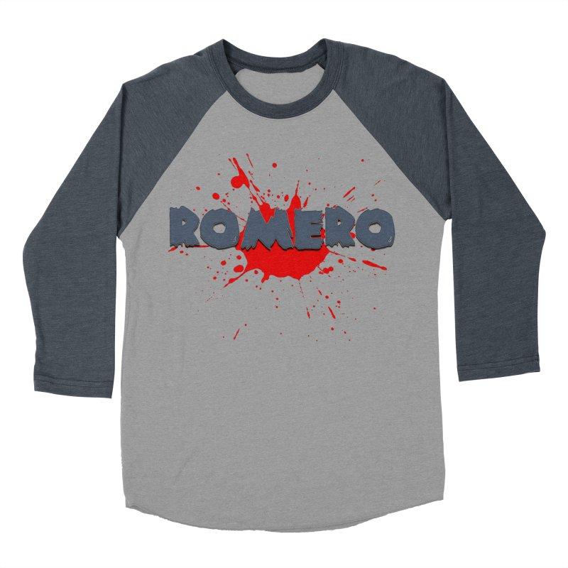 Romero Women's Baseball Triblend T-Shirt by Monkeys Fighting Robots' Artist Shop