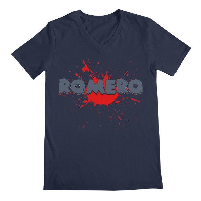 Romero Men's V-Neck by Monkeys Fighting Robots' Artist Shop
