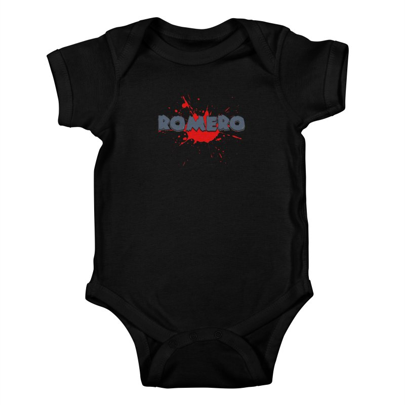 Romero Kids Baby Bodysuit by Monkeys Fighting Robots' Artist Shop