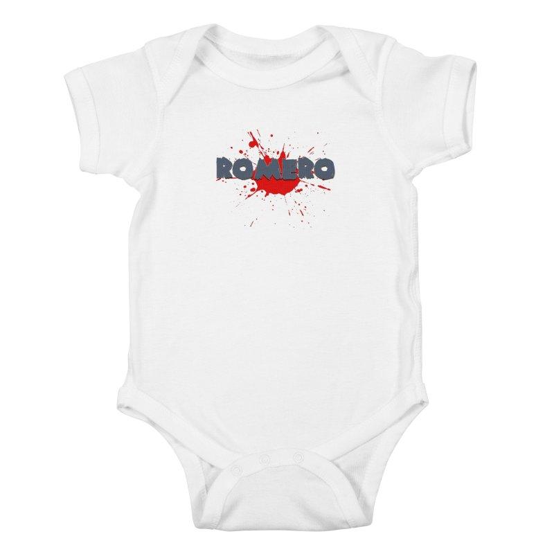 Romero Kids Baby Bodysuit by Monkeys Fighting Robots' Artist Shop