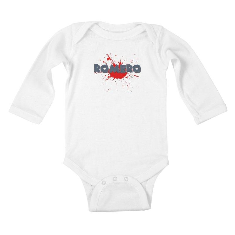 Romero Kids Baby Longsleeve Bodysuit by Monkeys Fighting Robots' Artist Shop