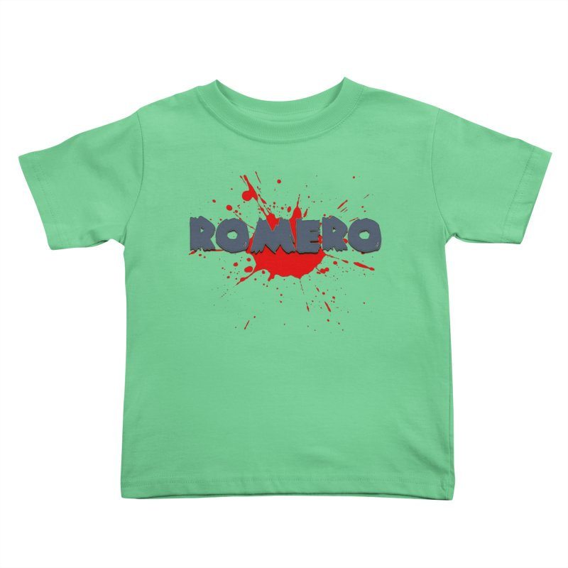 Romero Kids Toddler T-Shirt by Monkeys Fighting Robots' Artist Shop