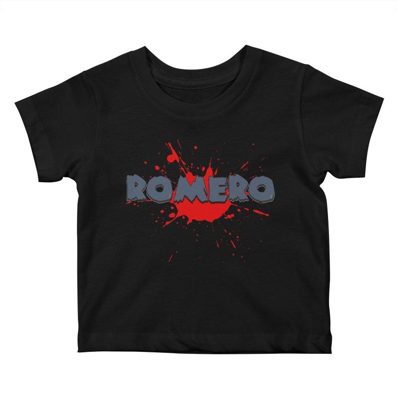 Romero Kids Baby T-Shirt by Monkeys Fighting Robots' Artist Shop