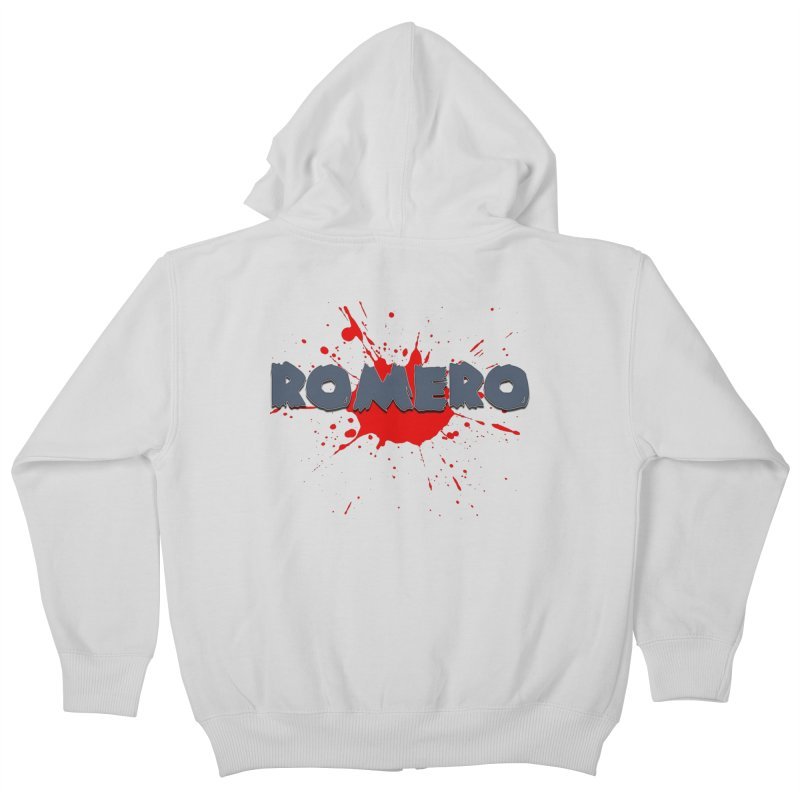 Romero Kids Zip-Up Hoody by Monkeys Fighting Robots' Artist Shop