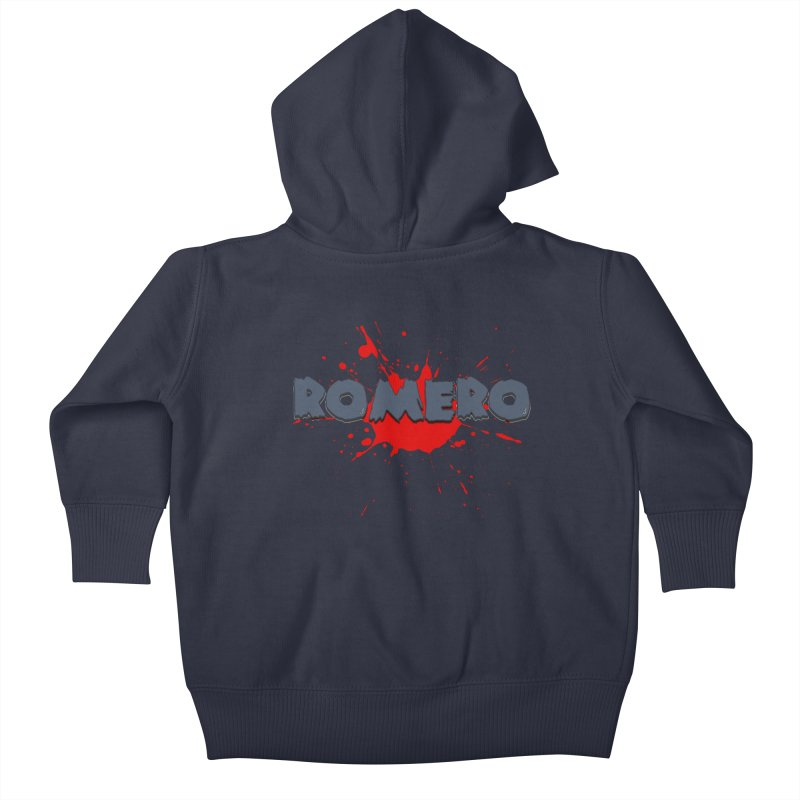 Romero Kids Baby Zip-Up Hoody by Monkeys Fighting Robots' Artist Shop