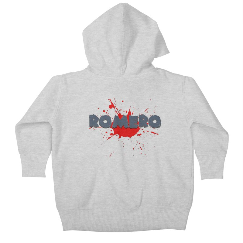 Romero Kids Baby Zip-Up Hoody by Monkeys Fighting Robots' Artist Shop
