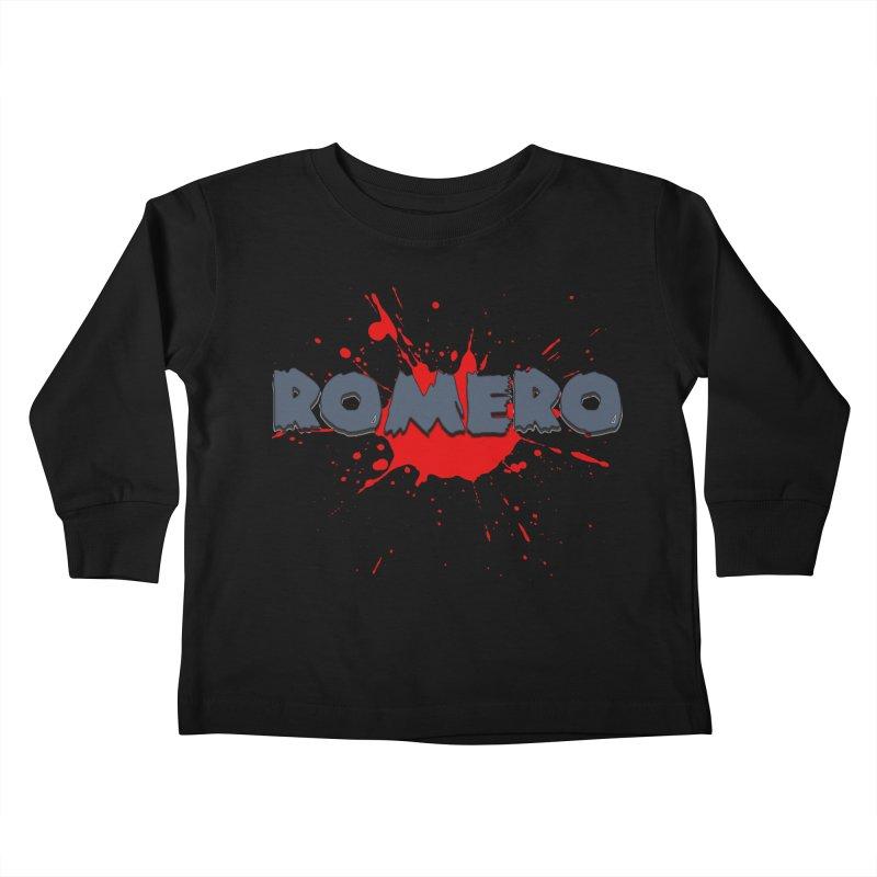 Romero Kids Toddler Longsleeve T-Shirt by Monkeys Fighting Robots' Artist Shop