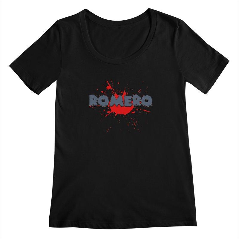Romero Women's Scoopneck by Monkeys Fighting Robots' Artist Shop