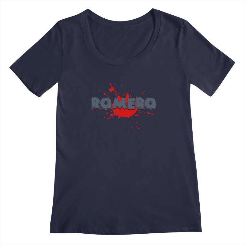 Romero Women's Scoopneck by Monkeys Fighting Robots' Artist Shop