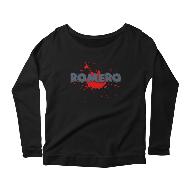 Romero Women's Longsleeve Scoopneck  by Monkeys Fighting Robots' Artist Shop