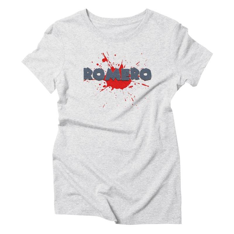 Romero Women's Triblend T-shirt by Monkeys Fighting Robots' Artist Shop