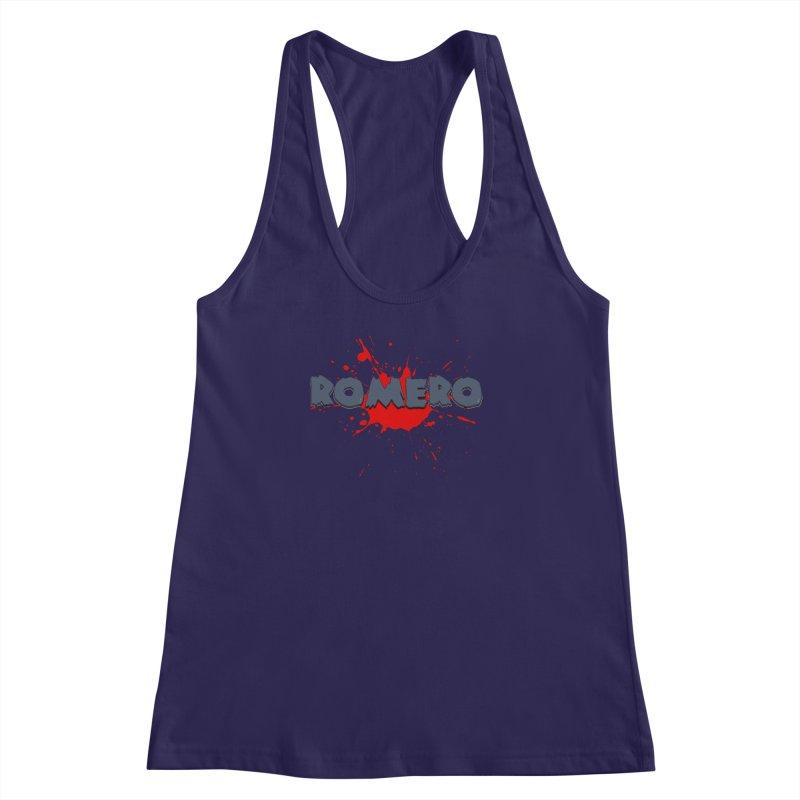 Romero Women's Racerback Tank by Monkeys Fighting Robots' Artist Shop