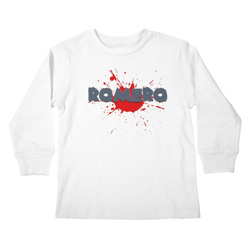 Romero Kids Longsleeve T-Shirt by Monkeys Fighting Robots' Artist Shop