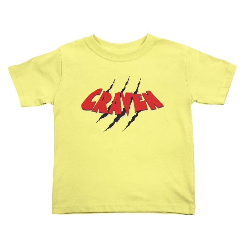 Craven Kids Toddler T-Shirt by Monkeys Fighting Robots' Artist Shop