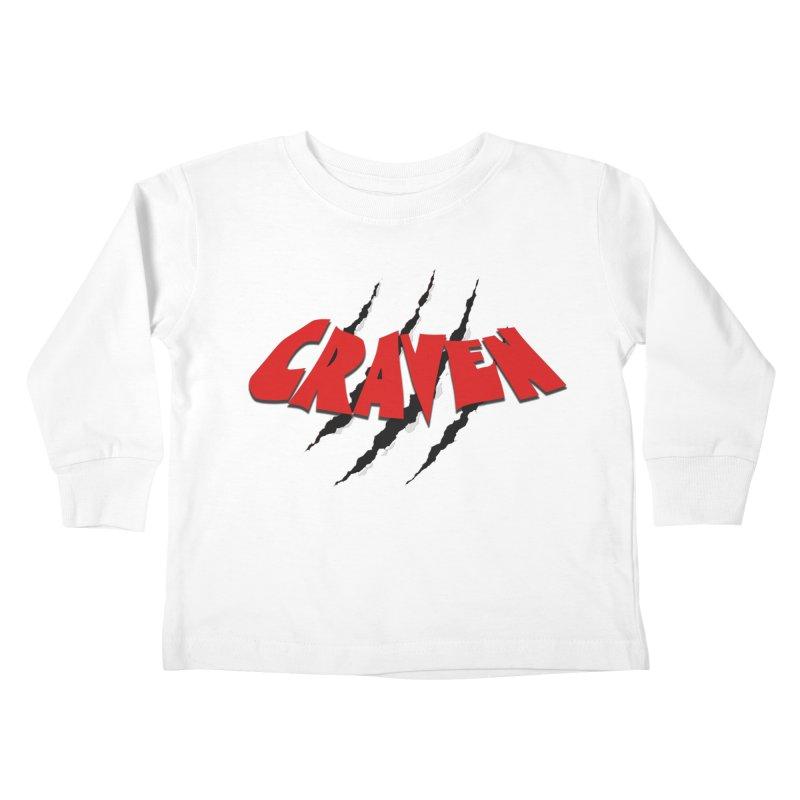 Craven Kids Toddler Longsleeve T-Shirt by Monkeys Fighting Robots' Artist Shop