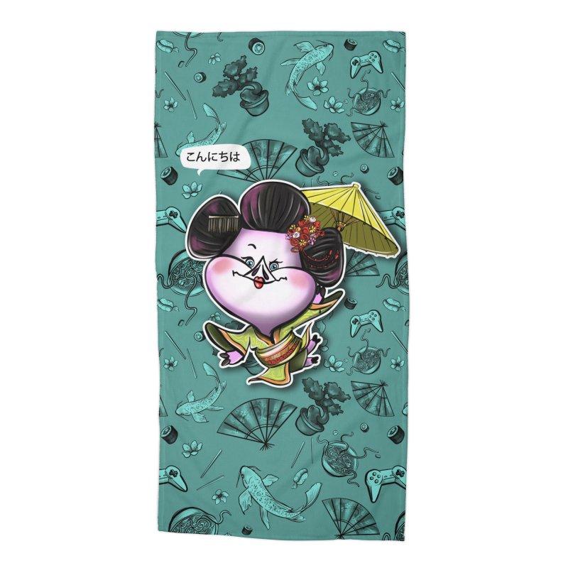 PIG Tails - JAPAN Accessories Beach Towel by MonkkeyBiz Artist Shop