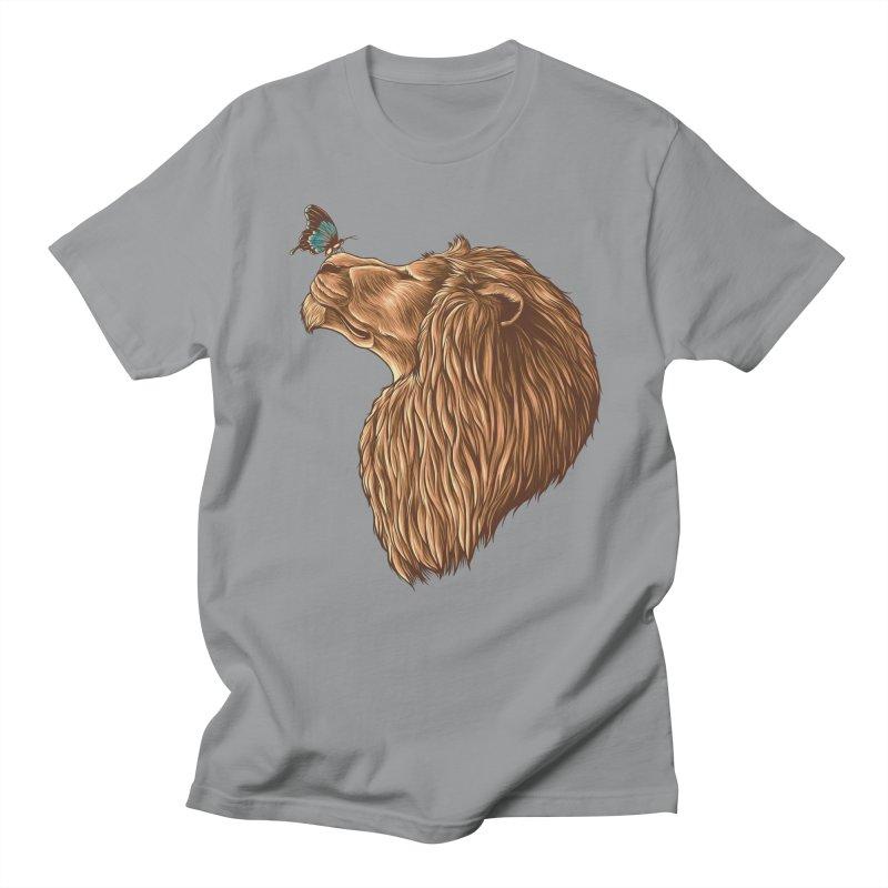 Gentle Man Men's Regular T-Shirt by monochromefrog