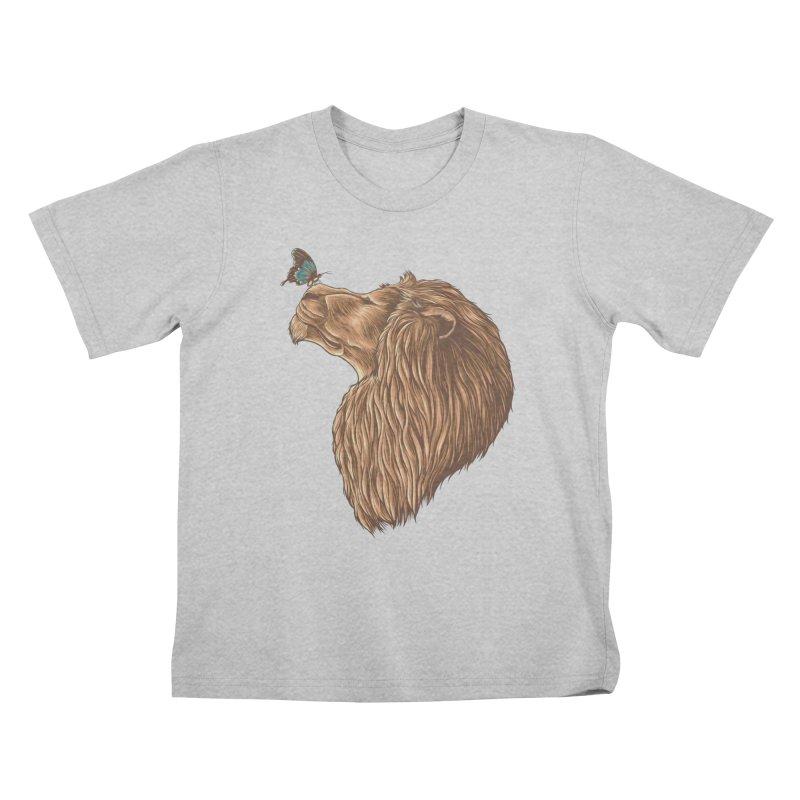 Gentle Man Kids T-Shirt by monochromefrog