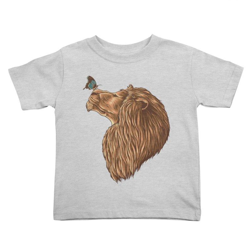 Gentle Man Kids Toddler T-Shirt by monochromefrog