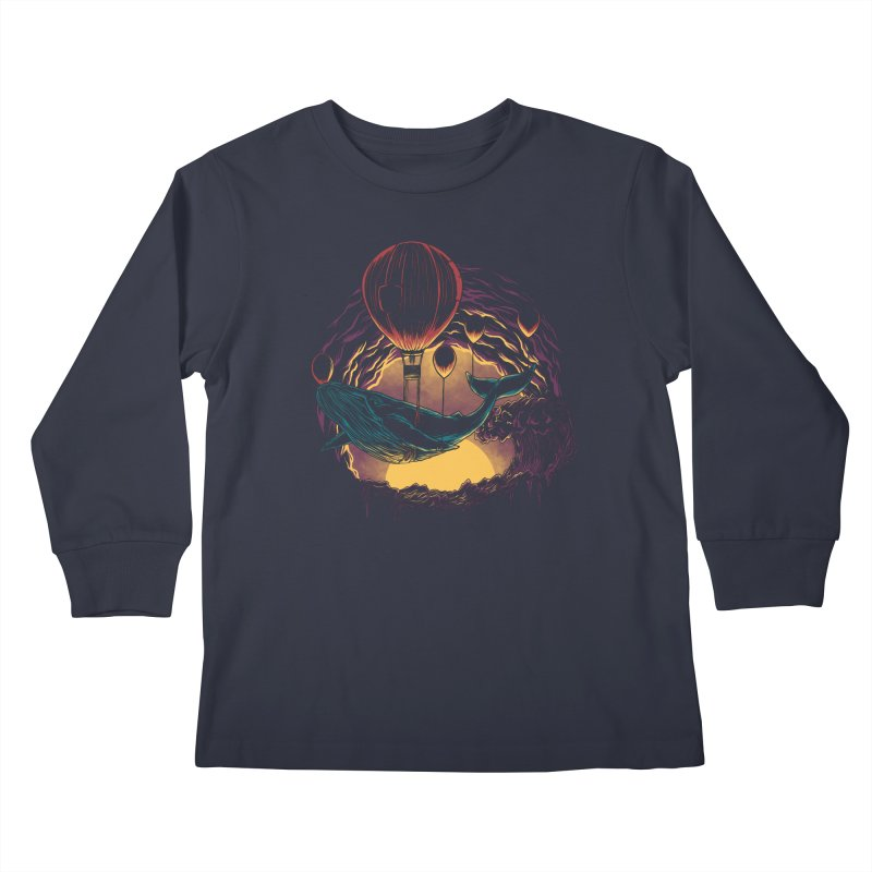 Swift Migration Kids Longsleeve T-Shirt by monochromefrog