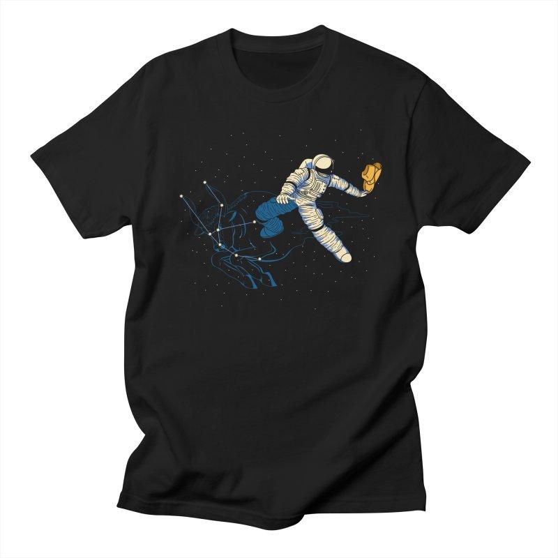 Wild Ride in Space Men's T-Shirt by monochromefrog