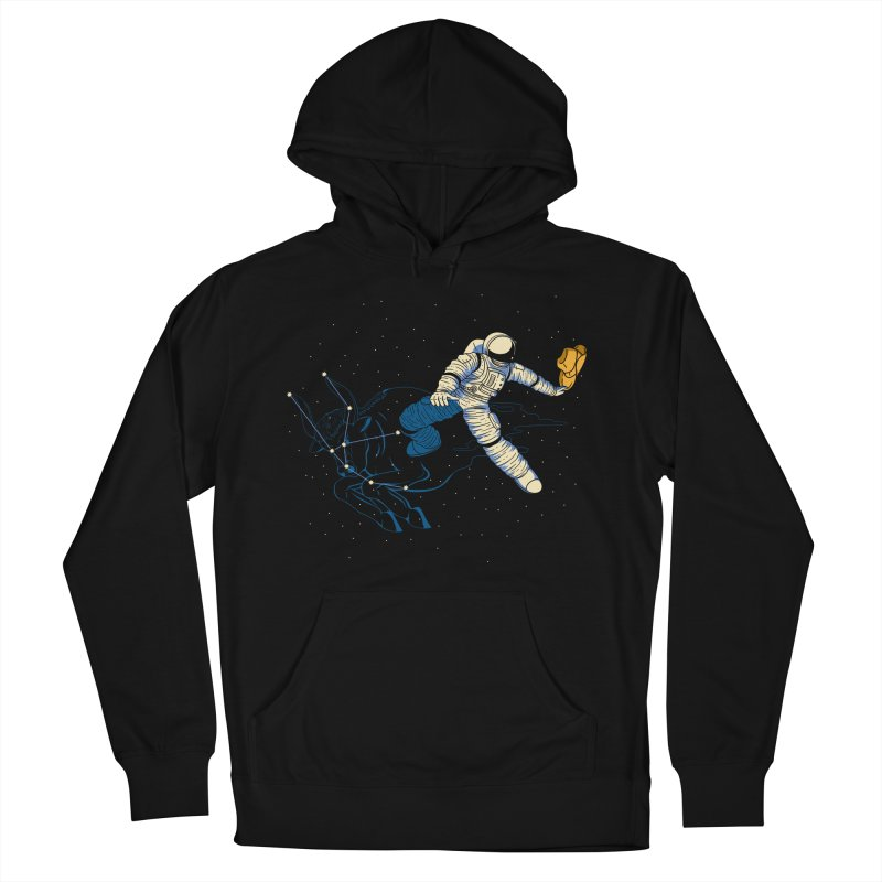 Wild Ride in Space Men's French Terry Pullover Hoody by monochromefrog