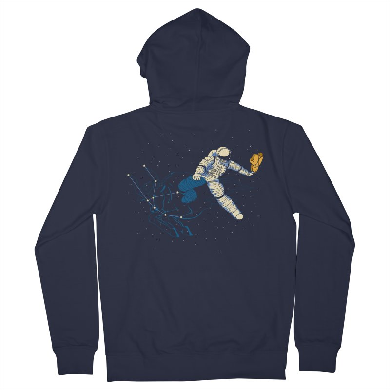Wild Ride in Space Men's French Terry Zip-Up Hoody by monochromefrog