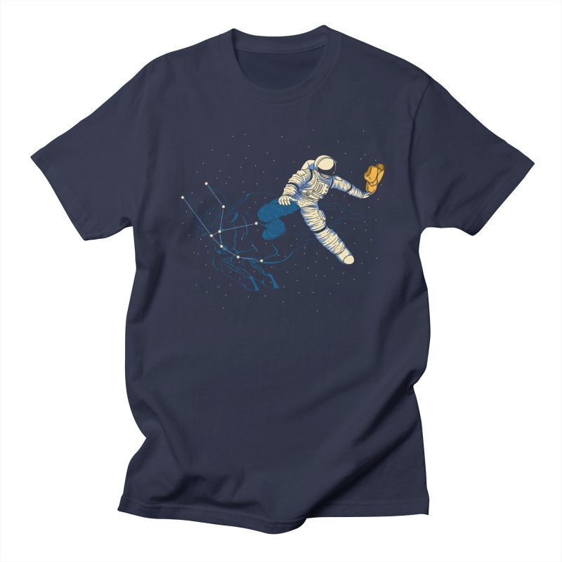 Wild Ride in Space Men's T-shirt by monochromefrog