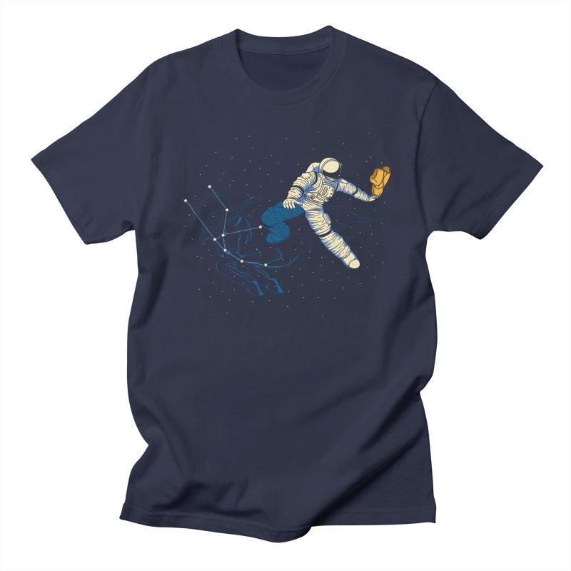 Wild Ride in Space Men's Regular T-Shirt by monochromefrog