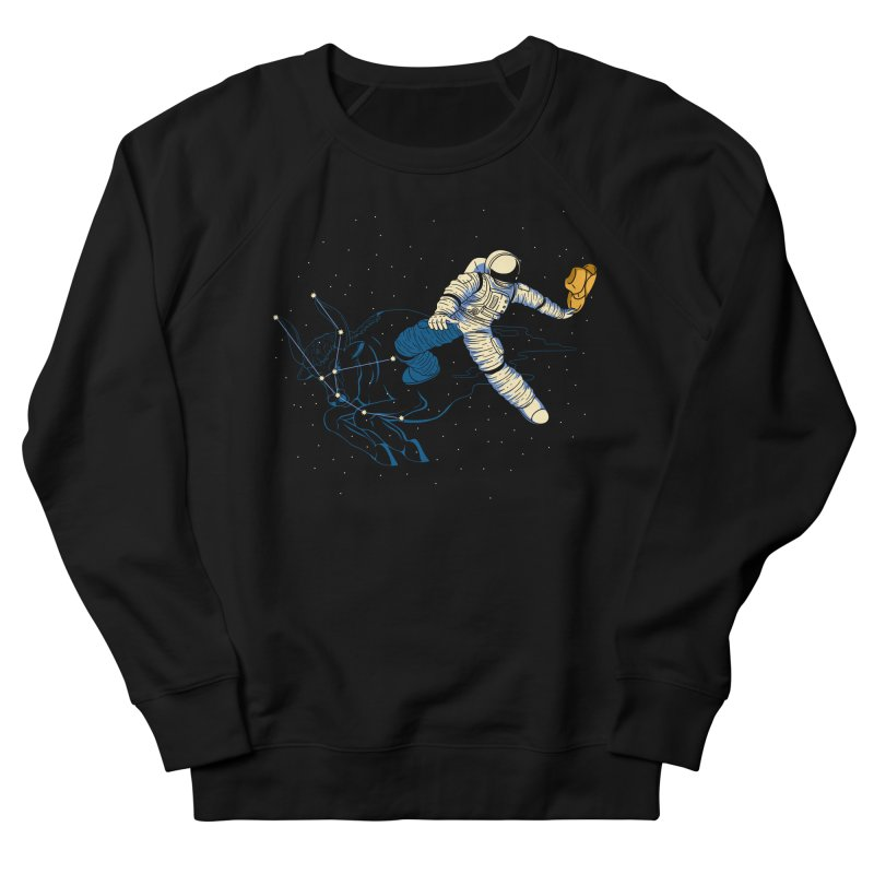 Wild Ride in Space Women's French Terry Sweatshirt by monochromefrog