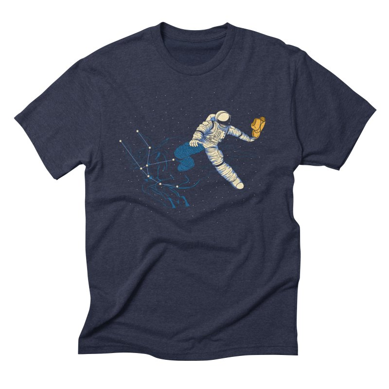 Wild Ride in Space Men's Triblend T-Shirt by monochromefrog