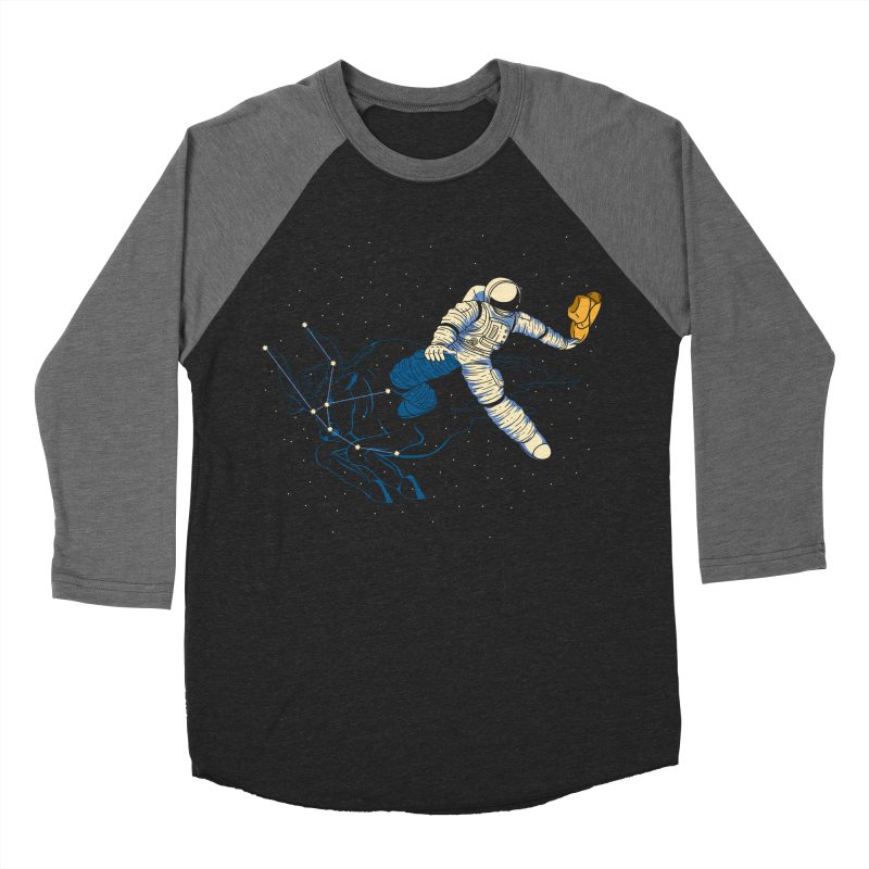 Wild Ride in Space Men's Baseball Triblend Longsleeve T-Shirt by monochromefrog