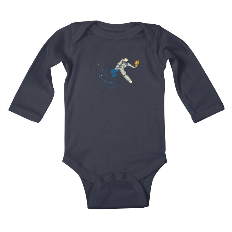 Wild Ride in Space Kids Baby Longsleeve Bodysuit by monochromefrog