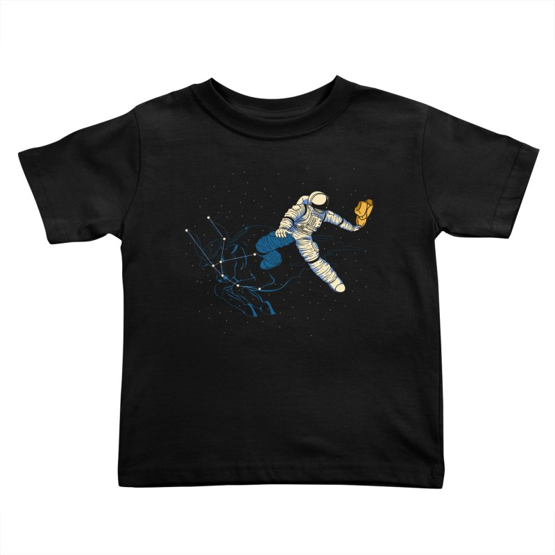 Wild Ride in Space Kids Toddler T-Shirt by monochromefrog