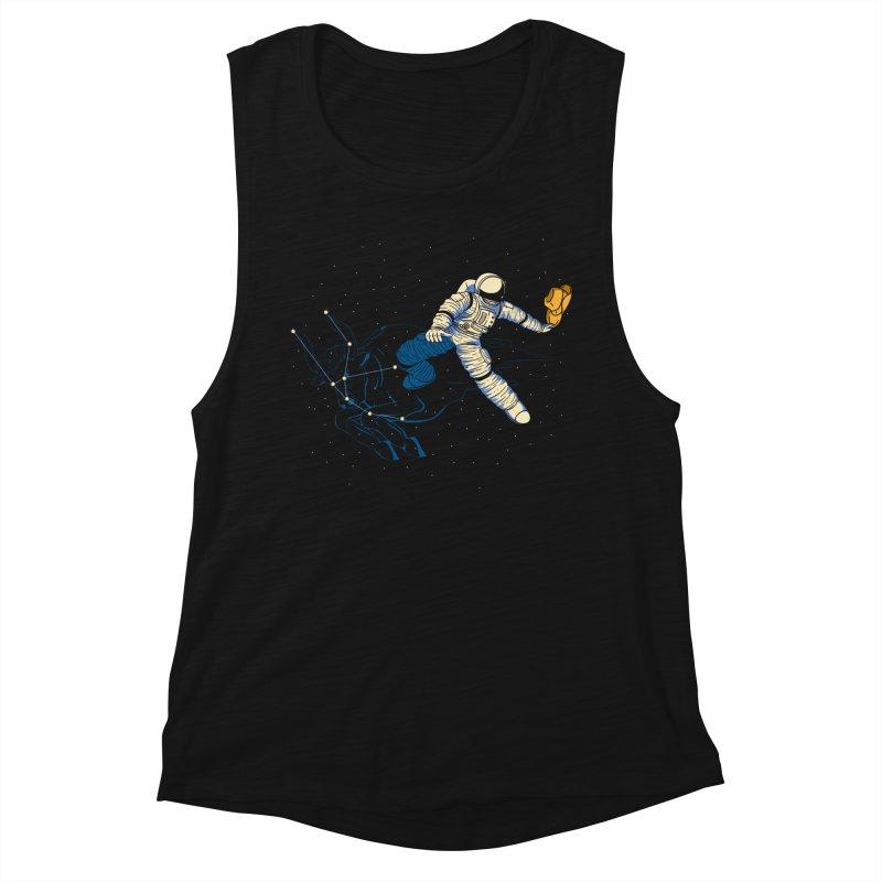 Wild Ride in Space Women's Muscle Tank by monochromefrog