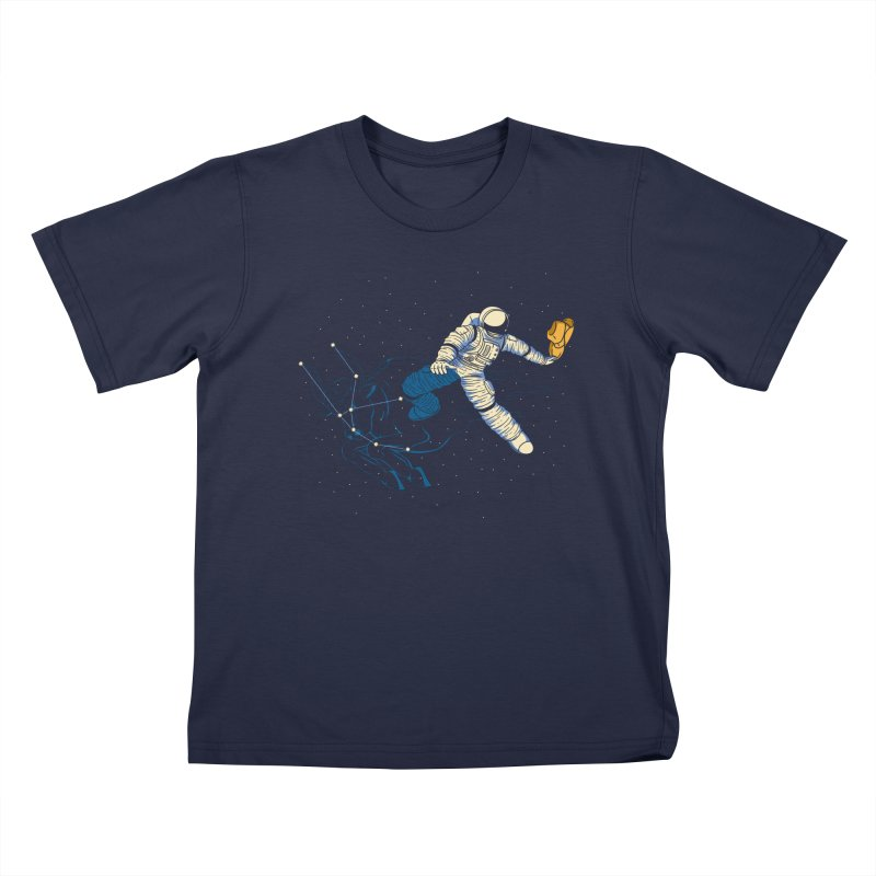 Wild Ride in Space Kids T-Shirt by monochromefrog