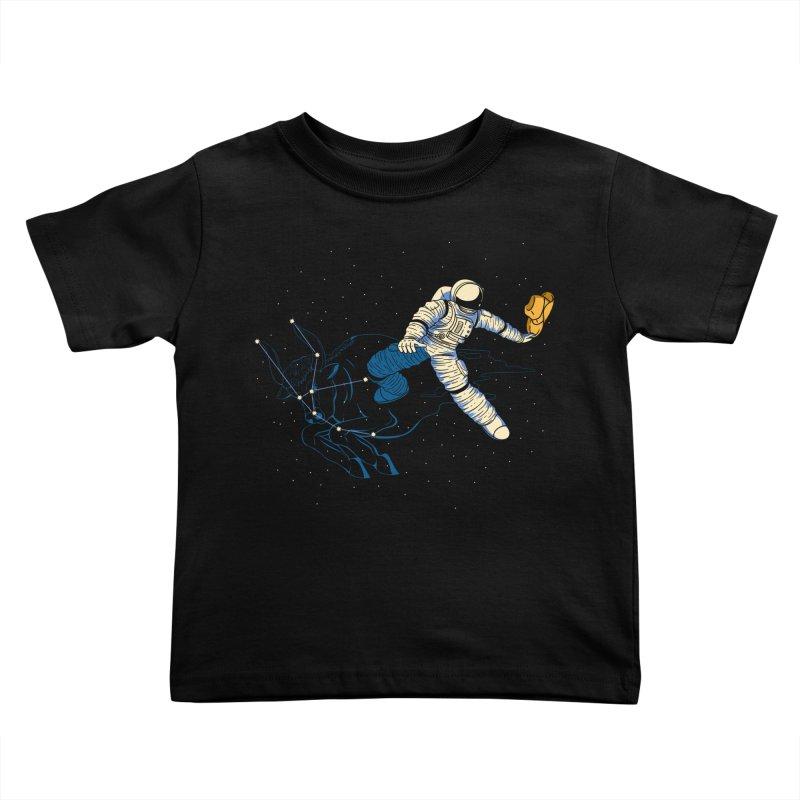Wild Ride in Space Kids Toddler T-Shirt by monochromefrog