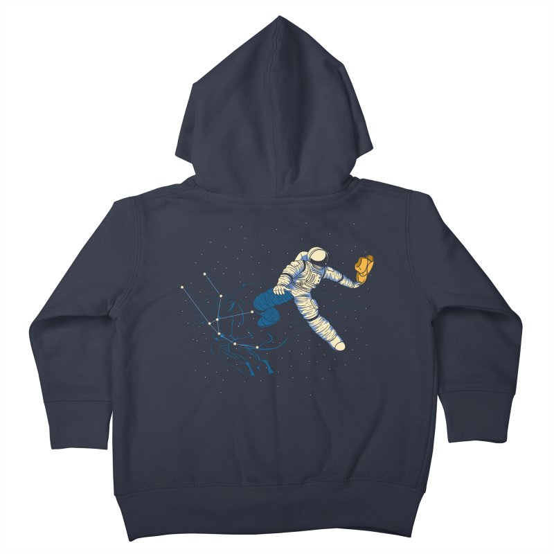 Wild Ride in Space Kids Toddler Zip-Up Hoody by monochromefrog