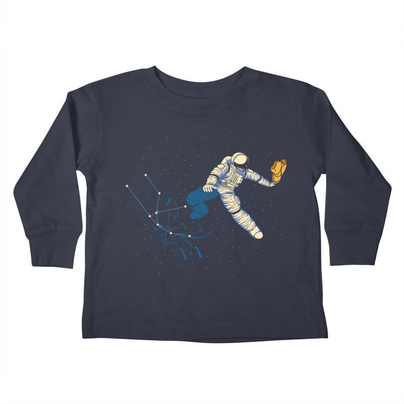 Wild Ride in Space Kids Toddler Longsleeve T-Shirt by monochromefrog