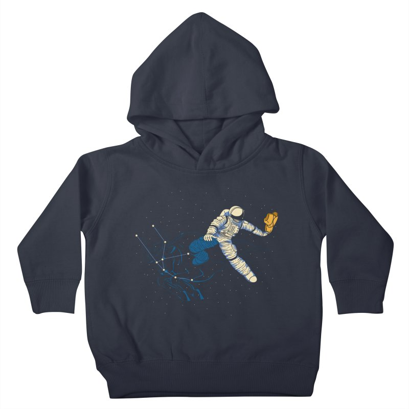Wild Ride in Space Kids Toddler Pullover Hoody by monochromefrog