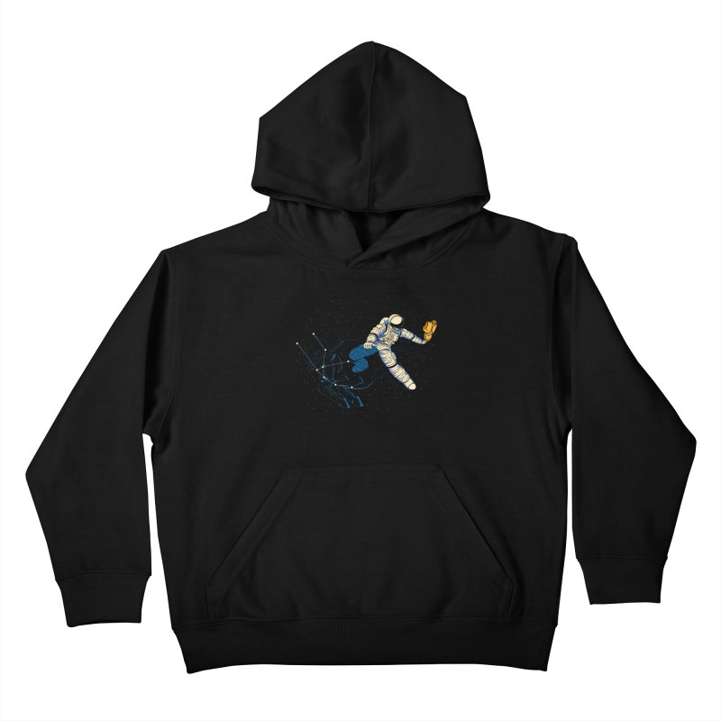 Wild Ride in Space Kids Pullover Hoody by monochromefrog
