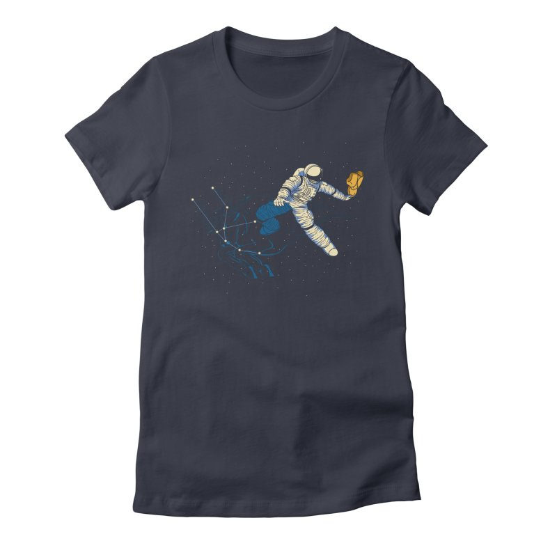Wild Ride in Space Women's Fitted T-Shirt by monochromefrog