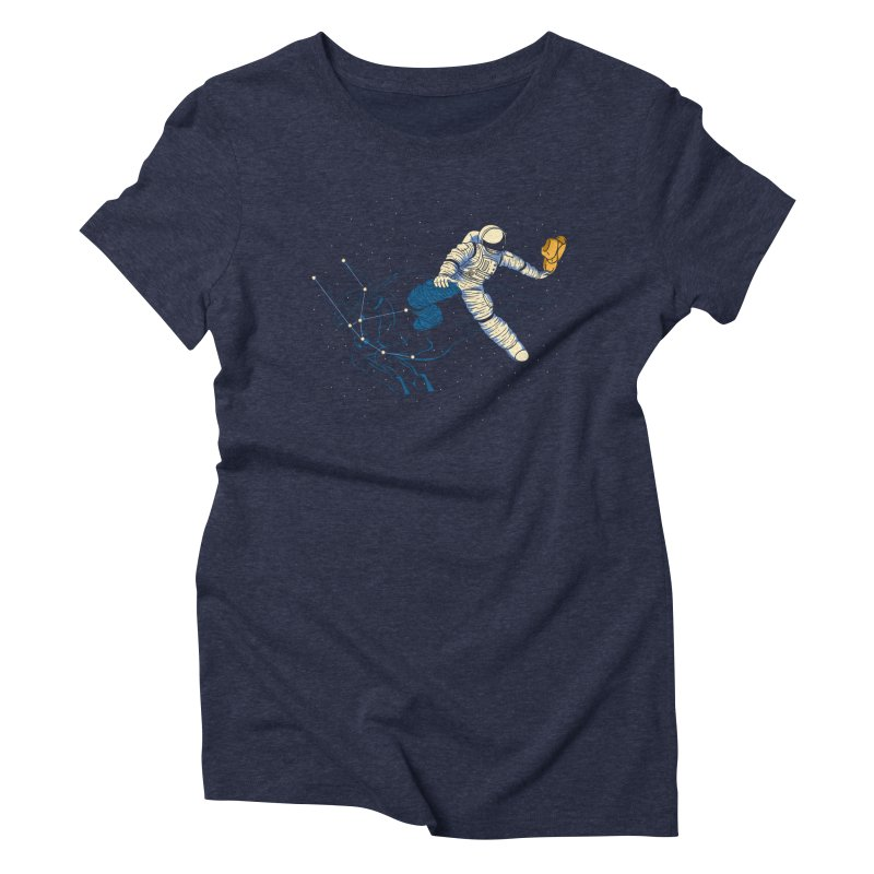 Wild Ride in Space Women's Triblend T-Shirt by monochromefrog